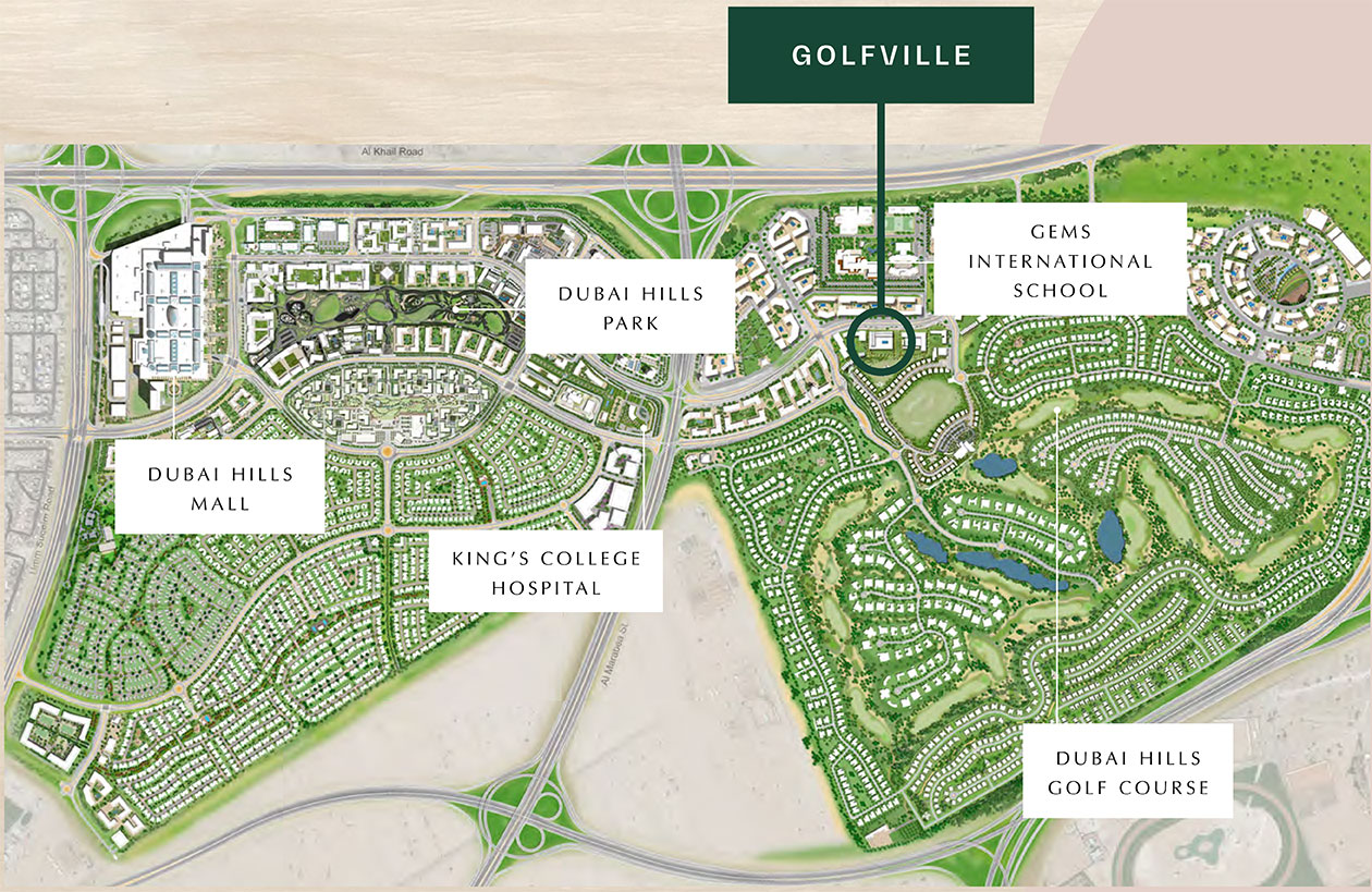Golfville By Emaar Location